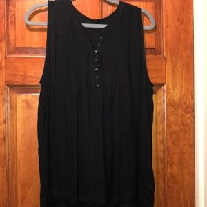 Lucy Brand Black Button-Up Tank